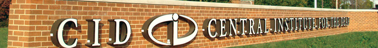 CID – Central Institute for the Deaf brick sign