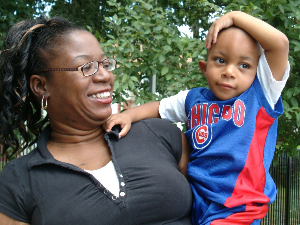 CID student (a Chicago Cubs fan) and his mom