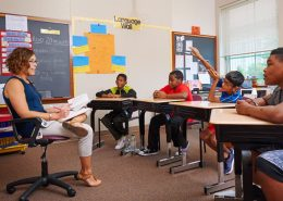 Children in a classroom setting